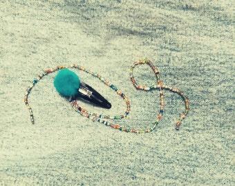 Colorful Bead Falls Clip-Colorful Beads, Hair Clip, Handmade Hair Clip, Hair Accessories For Teens, Spring, Summer Accessories, Hair Beads