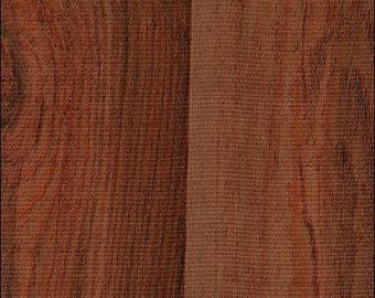 Round Faux Bois Plank Mahogany Oilcloth Tablecloth
