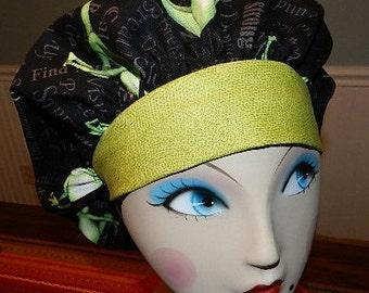 Streeeeetch Yoga Frogs  Banded Bouffant Surgical Cap