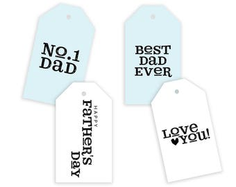 Father's Day Gift Tags Printable, Father's Day Labels, Fathers Day Printable, Dads Day Gift Tags, Digital Download