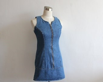 Vintage GUESS Denim Dress/ Small
