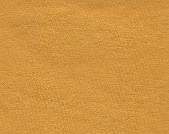 Solid Mustard Yellow Double Brushed Poly Spandex Knit, 1 yard