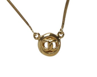 CHANEL small CC logo chain necklace