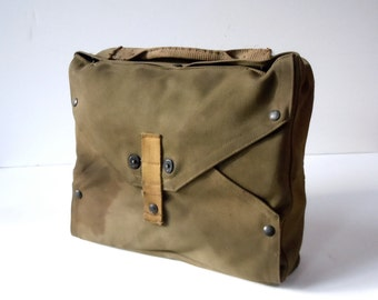 Vintage WWII Life Raft in Original Pack / Unpacked and Assumed Unused / Military Collectible / Khaki Green Canvas / 1944