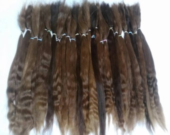 Blythe / Doll Hair / BJD / MSD / Combed Doll Hair / Re root / Combed Suri Alpaca / Wig /Reborn /  Supplies (3002)