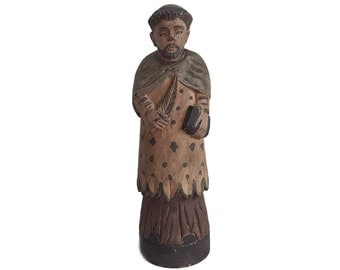 Carved Wood Statue Saint St. Paul The Apostle of The Gentile Roman Catholic Santos