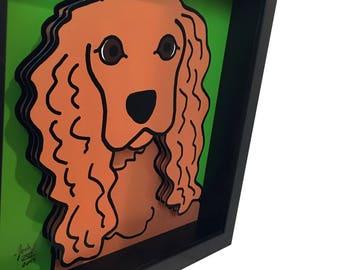 Cocker Spaniel Art Cocker Spaniel Gift Dog Art Dog Gift 3D Art Cocker Spaniel Life Art Dog Print Dog Lover Gift
