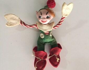 Jump Jump Cloth Doll/Jump Jump Vintage Elf Pixie/Wee Whimsie/Holiday House Radio Show/ By Gatormom13