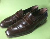TOD'S ITALIAN Designer Brown Leather Oxfords Driving Loafers. Size European 36 or American