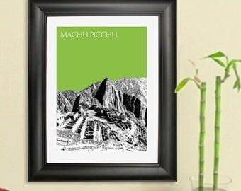 Machu Picchu Poster - Machu Picchu Peru Art Print - 8 x 10 Choose Your Color