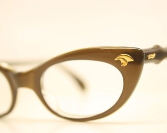 Brown cat eye eyeglasses vintage cat eye glasses frames Cateye frames