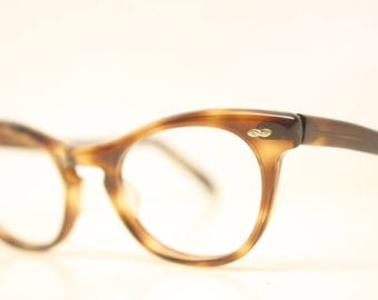 Unused White Floral cat eye eyeglasses vintage cat eye glasses frames Cateye frames NOS