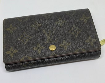 Louis Vuitton Monogram Wallet Vintage Porte Monnaie Tresor  LV 1990's Free Ship Today Only!