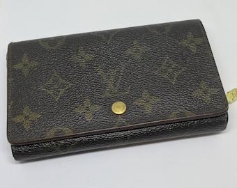 Louis Vuitton Monogram Wallet Vintage Porte Monnaie Tresor Authentic Browns LV 1990's