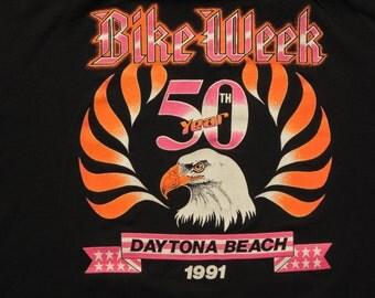 vintage 50th anniversary bike week t shirt