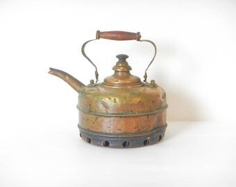 Antique/Vintage English Copper Kettle for Gas Stove