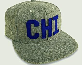 CHI Vintage Wool Snapback Baseball Hat