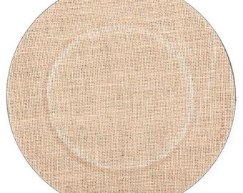 """13"""" Burlap Wedding / Party Glitter Plate Charger"""