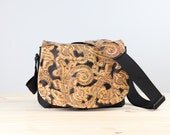 Medium - Leather Camera Bag New Satchel  -  Embossed Swirls  Leather Camera Leather DSLR - IN STOCK
