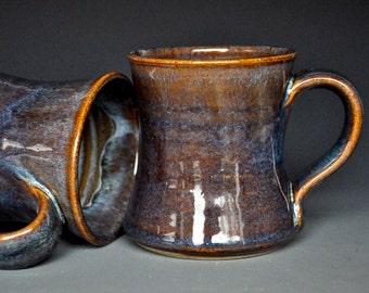 Pottery Mug Stoneware Ceramic Coffee Cup Handmade Mug Amber Rose