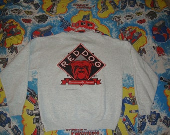 Vintage 90's Red Dog Beer party punk rock 1994 Gray Crew Neck Sweatshirt Adult Size L
