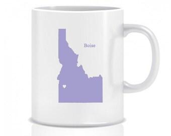 Idaho Hometown, Coffee Mug, Custom, Custom Mug, Coffee Cup, Custom Coffee Cup Lavender