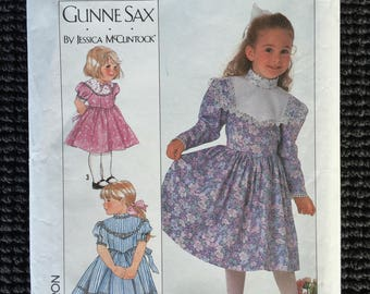 Simplicity 9438 Girls Dress in 2 Lengths Sewing Pattern Size 3-6 Gunne Sax Jessica McClintock UNCUT