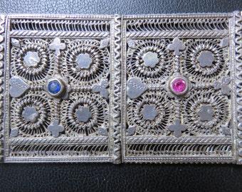 Antique Indian Coin Silver Belt