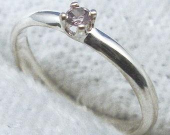 Baby Keepsake Ring, June Birthstone, Imitation Alexanderite, Hand Crafted Recycled Sterling Silver, handmade for boy, girl