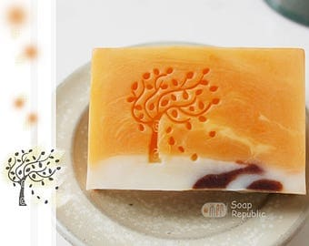FREE SHIPPING! SoapRepublic Swaying Tree Acrylic Soap Stamp / Cookie Stamp / Clay Stamp