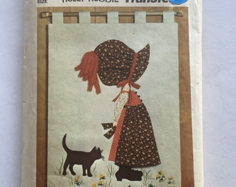 70s Simplicity 6544 Holly Hobbie Wall Hanging Appliqué and Transfer