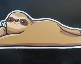Lounging Sloth Sticker