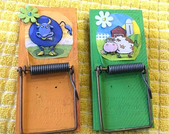 magnetic clip, clip, magnet, funny, farm, animals, cow, bull, 3D
