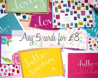 Any 5 Cards. Special Multi-buy listing. Special Offer.