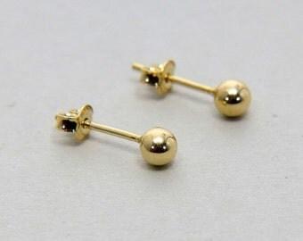SALE, Ball studs, Gold Stud Earring, Round ball Post Earring, Minimal Gold Ball Studs, Dot Studs, Round studs, Ball Earrings, Gift for Girl