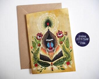 Majestic Mandrill // Greeting Card