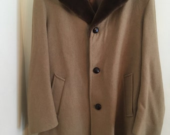 Vintage Pendleton wool camel coat 42