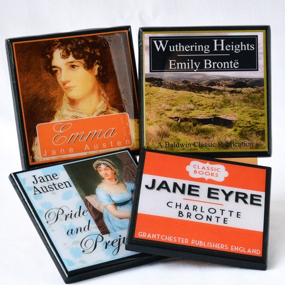 Classic Book Cover Page : Book coaster set classic cover drink coasters club