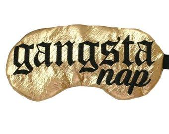 Gangsta Nap Sleep Eye Mask in Gold and Black