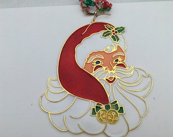 Large Santa Suncatcher Ornament