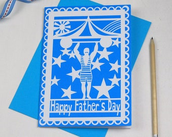 Strong Man Happy Father's Day Card