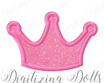 Crown Applique Machine Embroidery Design 4x4 5x7 6x10 Tiara Princess Prince INSTANT DOWNLOAD