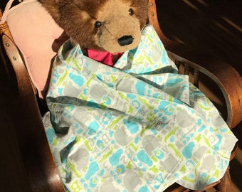 Baby Toddler Flannel Blanket Zoo Friends