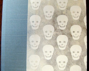 Handbound Hardcover Small Skulls Blank Unlined Journal