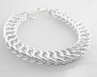 Chainmaille Men's / Women's Silver Chris Bracelet