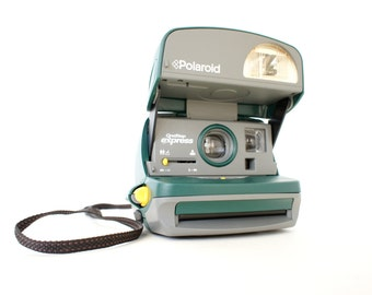 SALE Polaroid Camera 600 Forest Green - Film Tested Working