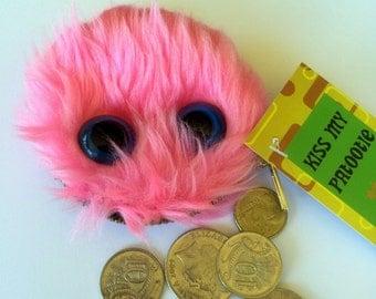 Furry Magenta Monster Coin Purse