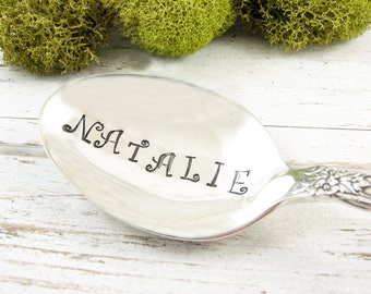Custom Name Spoon. Stamped Silverware for Birthday Gift Idea. Hand Stamped Vintage Cutlery by Dazzling Dezignz. 595SP