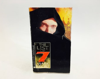 Vintage Horror Book The List of 7 by Mark Frost 1994 Paperback