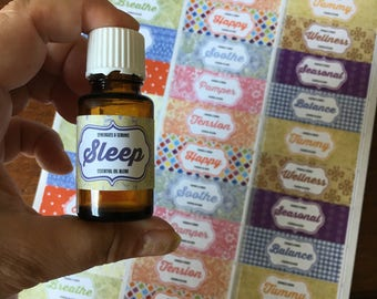 Essential Oil Labels, Roller Bottle Labels, Rollerball Labels